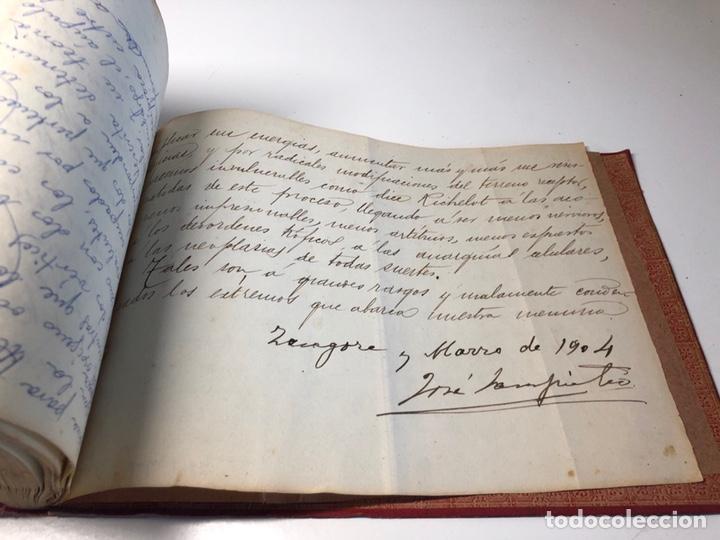 Libros antiguos: LIBRO MANUSCRITO 1904 MEMORIA Dr. C. SAMPIETRO OBSTETRICIA Y GINECOLOGIA ZARAGOZA - Foto 7 - 170162906