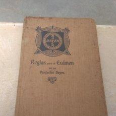 Libros antiguos: LIBRO REGLAS PARA EL EXAMEN DE LOS PRODUCTOS BAYER - 1908 -. Lote 170191660
