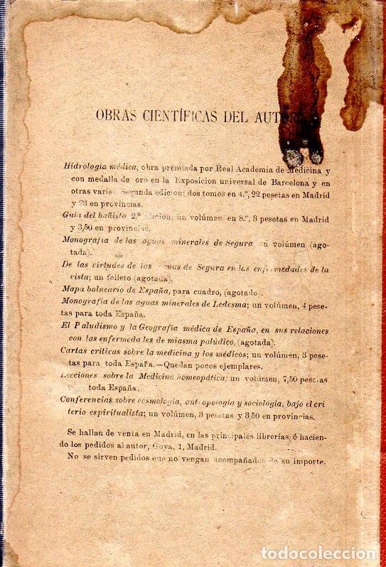 Libros antiguos: HIDROLOGIA MEDICA. DR. D. ANASTASIO GARCIA LOPEZ. 2ª EDICION. TOMO II. 1889. - Foto 2 - 170701860