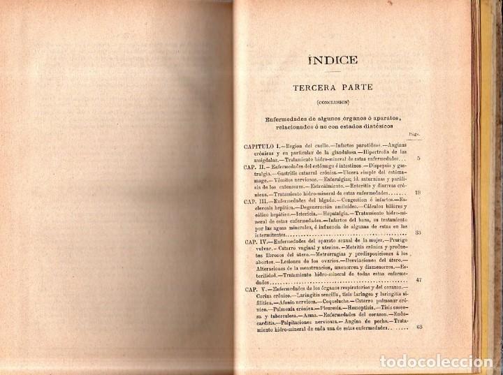 Libros antiguos: HIDROLOGIA MEDICA. DR. D. ANASTASIO GARCIA LOPEZ. 2ª EDICION. TOMO II. 1889. - Foto 5 - 170701860