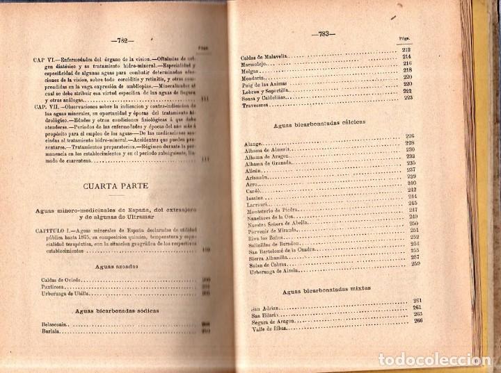 Libros antiguos: HIDROLOGIA MEDICA. DR. D. ANASTASIO GARCIA LOPEZ. 2ª EDICION. TOMO II. 1889. - Foto 6 - 170701860
