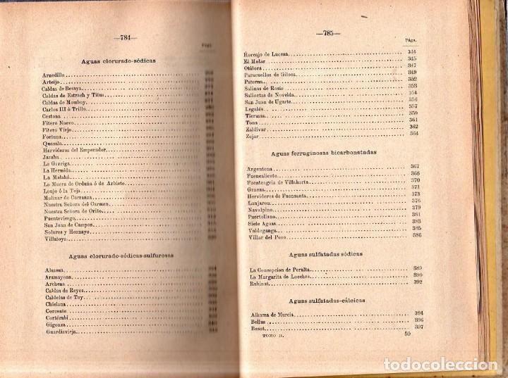 Libros antiguos: HIDROLOGIA MEDICA. DR. D. ANASTASIO GARCIA LOPEZ. 2ª EDICION. TOMO II. 1889. - Foto 7 - 170701860