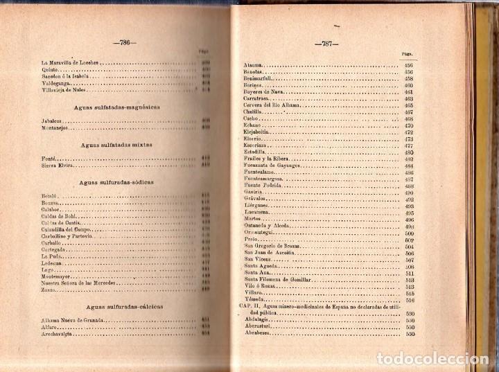 Libros antiguos: HIDROLOGIA MEDICA. DR. D. ANASTASIO GARCIA LOPEZ. 2ª EDICION. TOMO II. 1889. - Foto 8 - 170701860