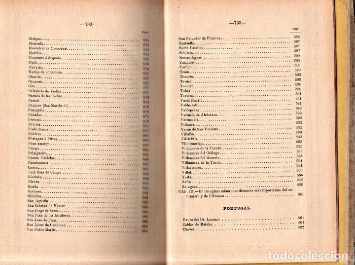 Libros antiguos: HIDROLOGIA MEDICA. DR. D. ANASTASIO GARCIA LOPEZ. 2ª EDICION. TOMO II. 1889. - Foto 11 - 170701860