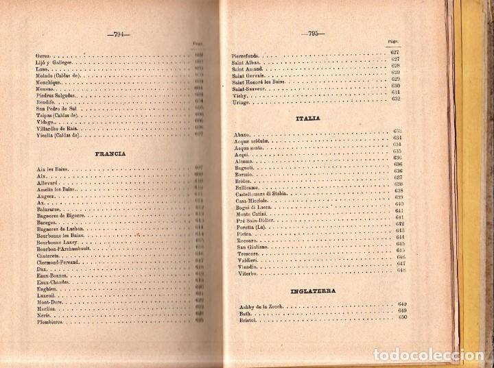 Libros antiguos: HIDROLOGIA MEDICA. DR. D. ANASTASIO GARCIA LOPEZ. 2ª EDICION. TOMO II. 1889. - Foto 12 - 170701860