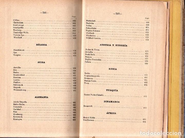 Libros antiguos: HIDROLOGIA MEDICA. DR. D. ANASTASIO GARCIA LOPEZ. 2ª EDICION. TOMO II. 1889. - Foto 13 - 170701860