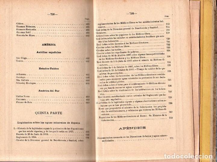 Libros antiguos: HIDROLOGIA MEDICA. DR. D. ANASTASIO GARCIA LOPEZ. 2ª EDICION. TOMO II. 1889. - Foto 14 - 170701860