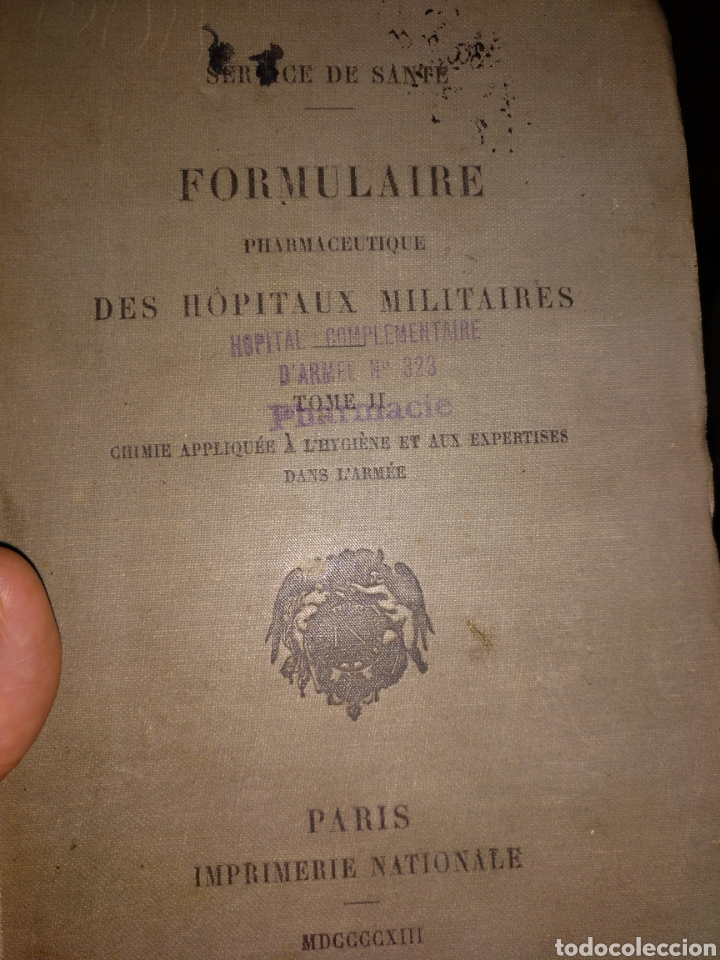 1913. FORMULARIO FARMACÉUTICO DE LOS HOSPITALES MILITARES (Libros Antiguos, Raros y Curiosos - Ciencias, Manuales y Oficios - Medicina, Farmacia y Salud)