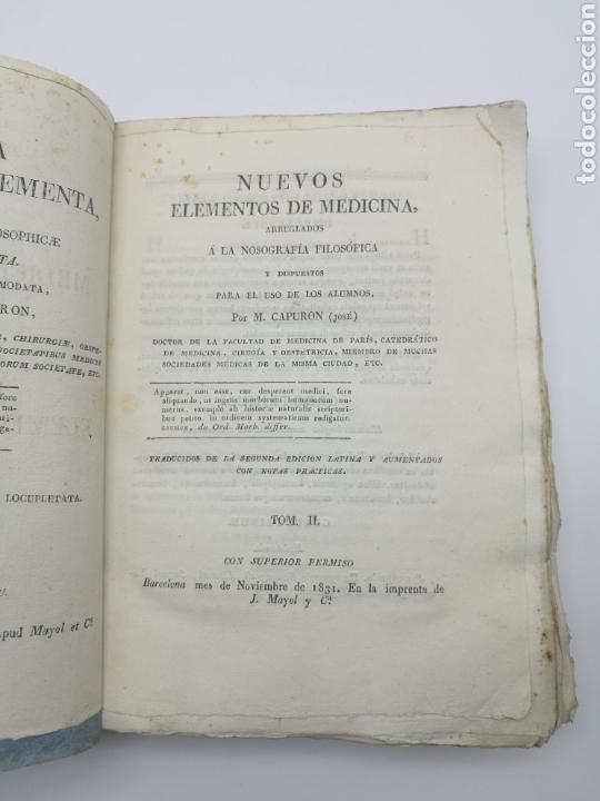 Libros antiguos: Nuevos elementos de medicina 1831 tomo 2 - Foto 2 - 171055914
