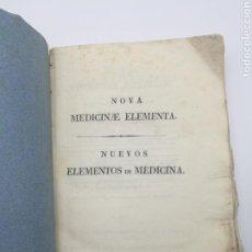 Libros antiguos: NUEVOS ELEMENTOS DE MEDICINA 1831 TOMO 2. Lote 171055914
