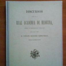 Libros antiguos: 1930 DISCURSO EN LA ACADEMIA MÉDICO QUIRÚRGICA ESPAÑOLA. Lote 171345835