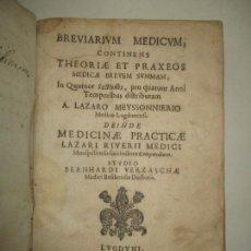 Libros antiguos: BREVIARIUM MEDICUM. CONTINENS THEORIAE ET PRAXEOS..MEYSSONNIERIO, A. LAZARO. 1664. PRIMERA EDICIÓN.. Lote 171622625