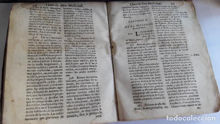Libros antiguos: Domingo Trapiella Montemayor: LLave de oro medicinal de la salud humana Madrid 1713 - Foto 5 - 172121110
