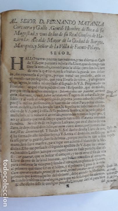 Libros antiguos: Domingo Trapiella Montemayor: LLave de oro medicinal de la salud humana Madrid 1713 - Foto 6 - 172121110