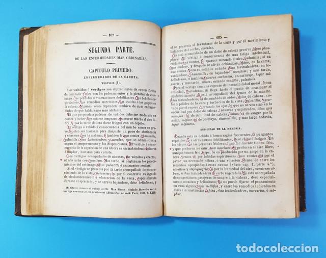 Libros antiguos: MEDICINA HOMEOPATICA DOMESTICA GUIA DE LAS FAMILIAS, DOCTOR HERING, BAILLY-BAILLIERE 1866 579 PAG - Foto 6 - 172252587