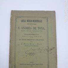 Libros antiguos: AGUAS MINERO MEDICINALES SANT ANDRÉS DE TONA 1881 VIC. Lote 172796522