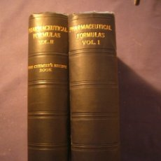 Libros antiguos: WOLLEY - FORRESTER: - PHARMACEUTICAL FORMULAS - (2 TOMOS) (LONDON, 1929). Lote 172840188