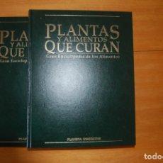 Livros antigos: PLANTAS Y ALIMENTOS QUE CURAN. TOMO 1 Y 2.. Lote 172965153
