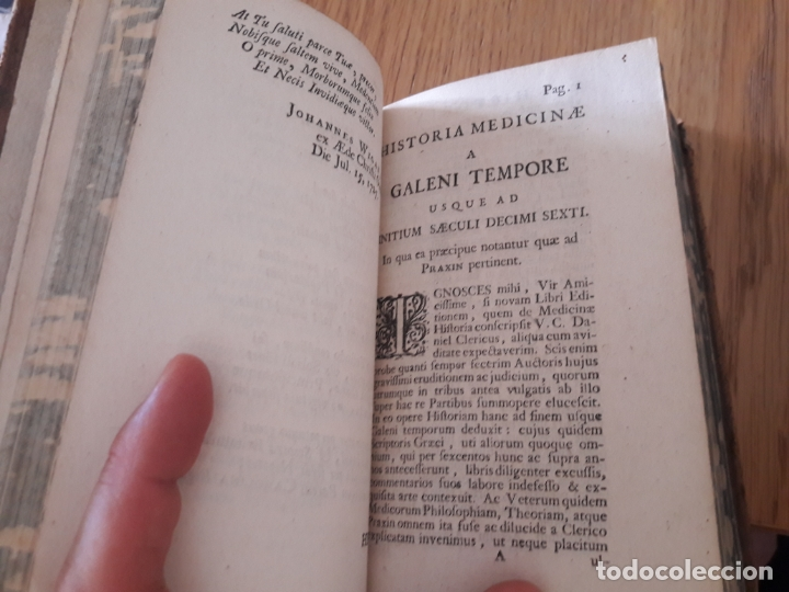 Libros antiguos: Johannis Freind, medicinæ, medicinæ a Galeni tempore. Historia, London, 1734. ed. Langerak - Foto 11 - 172984515