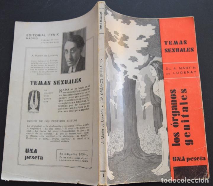 Libros antiguos: LOS ORGANOS GENITALES - A. MARTIN DE LUCENAY - TEMAS SEXUALES Nº 1 - 1º EDICIÓN 1932 - Foto 2 - 173055877
