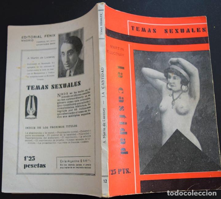 Libros antiguos: LA CASTIDAD - A. MARTIN DE LUCENAY - TEMAS SEXUALES Nº 12 - 1º EDICIÓN 1933 - Foto 2 - 173057874