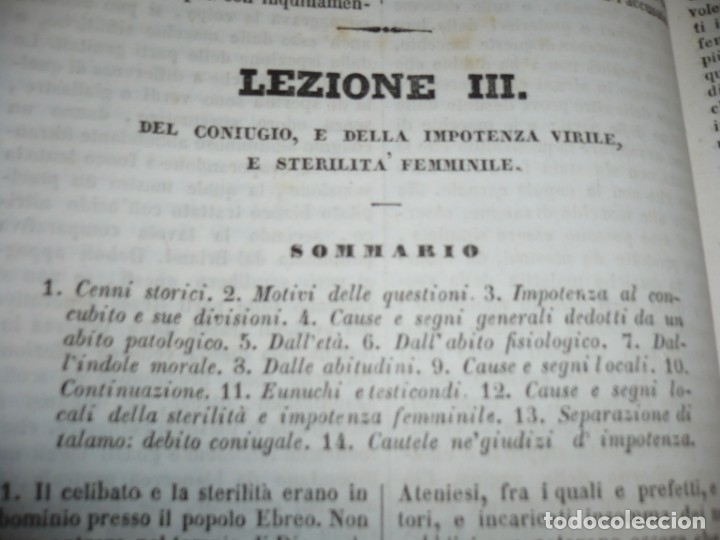Libros antiguos: LEZIONI DI MEDICINA LEGALE-FRAMMENTI INEDITI FRANCESCO PUCCINOTTI 1847-48 LIVORNO - Foto 6 - 173482960