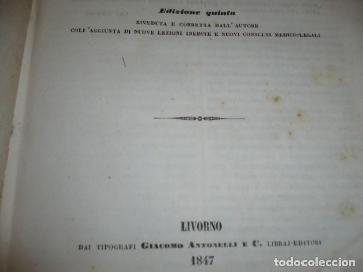 Libros antiguos: LEZIONI DI MEDICINA LEGALE-FRAMMENTI INEDITI FRANCESCO PUCCINOTTI 1847-48 LIVORNO - Foto 4 - 173482960