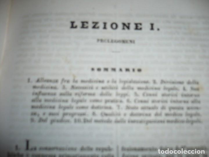 Libros antiguos: LEZIONI DI MEDICINA LEGALE-FRAMMENTI INEDITI FRANCESCO PUCCINOTTI 1847-48 LIVORNO - Foto 5 - 173482960