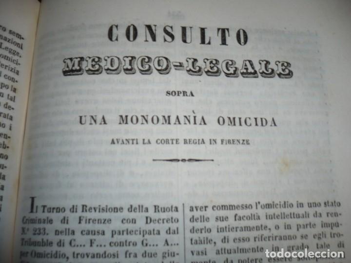 Libros antiguos: LEZIONI DI MEDICINA LEGALE-FRAMMENTI INEDITI FRANCESCO PUCCINOTTI 1847-48 LIVORNO - Foto 8 - 173482960
