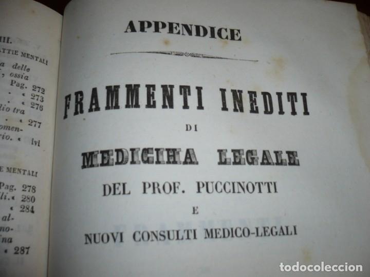 Libros antiguos: LEZIONI DI MEDICINA LEGALE-FRAMMENTI INEDITI FRANCESCO PUCCINOTTI 1847-48 LIVORNO - Foto 12 - 173482960