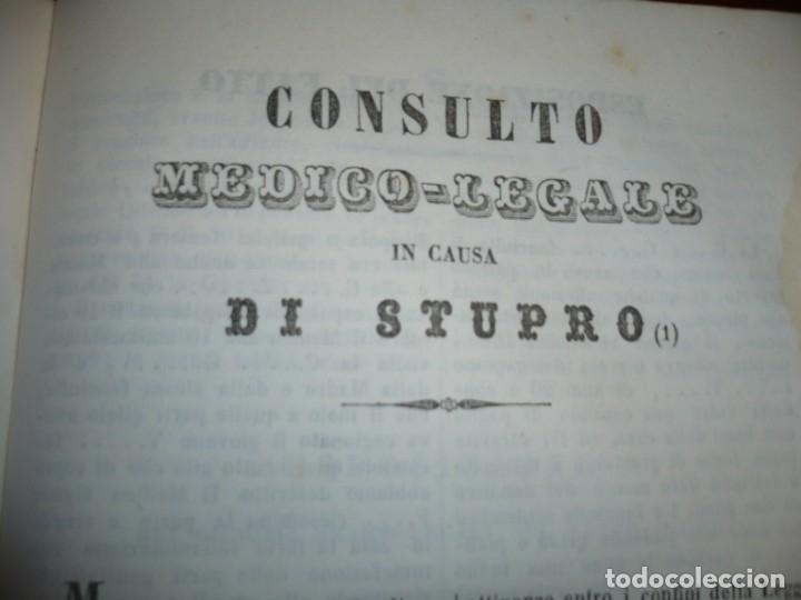 Libros antiguos: LEZIONI DI MEDICINA LEGALE-FRAMMENTI INEDITI FRANCESCO PUCCINOTTI 1847-48 LIVORNO - Foto 13 - 173482960