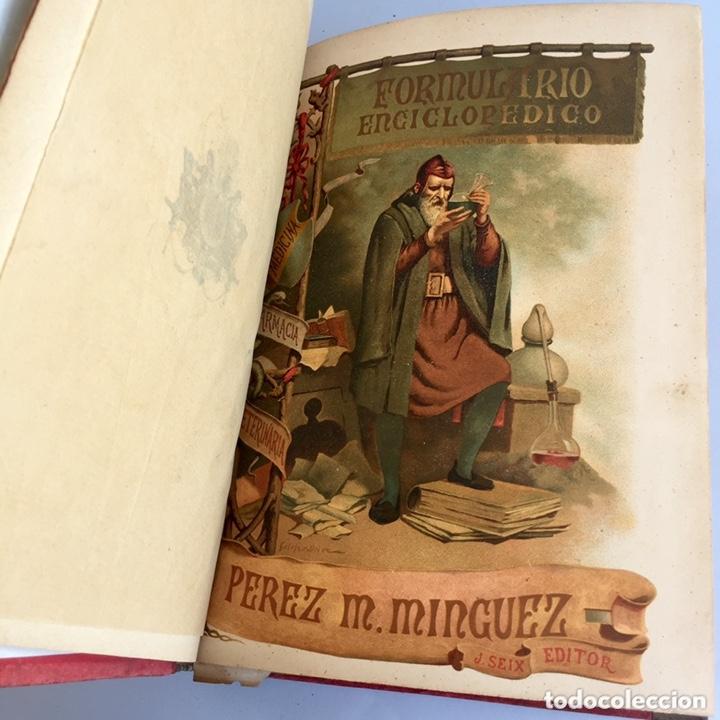 Libros antiguos: 1889 FORMULARIO ENCICLOPÉDICO MEDICINA FARMACIA VETERINARIA I y III - Foto 8 - 174011995