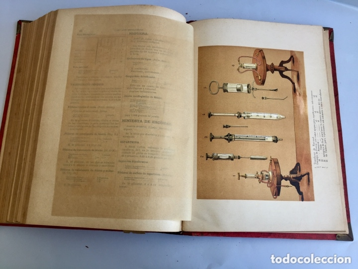 Libros antiguos: 1889 FORMULARIO ENCICLOPÉDICO MEDICINA FARMACIA VETERINARIA I y III - Foto 14 - 174011995