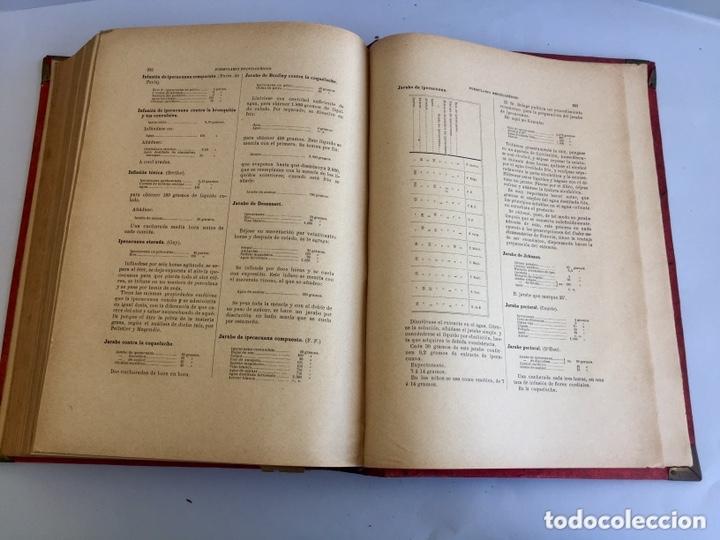 Libros antiguos: 1889 FORMULARIO ENCICLOPÉDICO MEDICINA FARMACIA VETERINARIA I y III - Foto 15 - 174011995