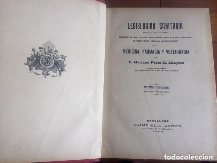 Libros antiguos: 1889 FORMULARIO ENCICLOPÉDICO MEDICINA FARMACIA VETERINARIA I y III - Foto 18 - 174011995
