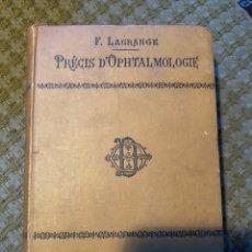 Libros antiguos: LIBRO OFTALMOLOGIA FRANCÉS. Lote 175219182