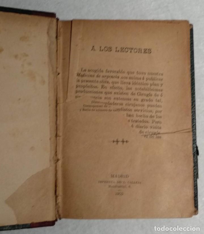 Libros antiguos: ANTIGUO LIBRO DE CIRUGÍA DE URGENCIA - A.DE DIEGO - VER TODAS LAS FOTOS - Foto 3 - 221618241