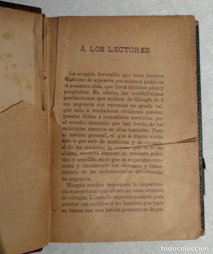Libros antiguos: ANTIGUO LIBRO DE CIRUGÍA DE URGENCIA - A.DE DIEGO - VER TODAS LAS FOTOS - Foto 4 - 221618241