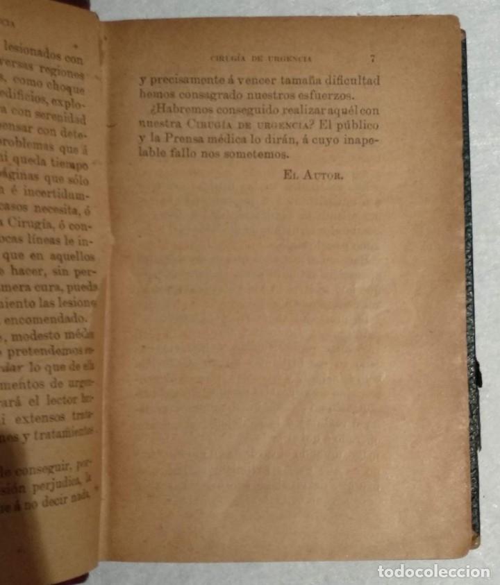 Libros antiguos: ANTIGUO LIBRO DE CIRUGÍA DE URGENCIA - A.DE DIEGO - VER TODAS LAS FOTOS - Foto 5 - 221618241