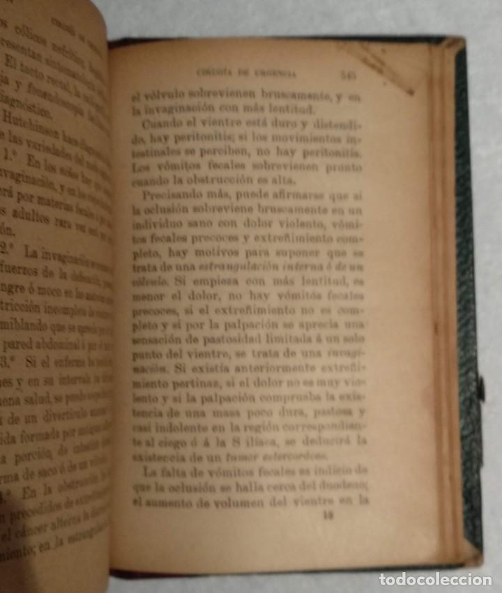 Libros antiguos: ANTIGUO LIBRO DE CIRUGÍA DE URGENCIA - A.DE DIEGO - VER TODAS LAS FOTOS - Foto 7 - 221618241