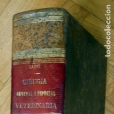 Libros antiguos: NUEVO TRATADO DE CIRUJIA GENERAL VETERINARIA. (SIGLO XIX ) - SAINZ Y ROZAS, JUAN ANTONIO. Lote 175668769