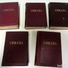 Libros antiguos: CIRUGÍA.TRATADO TEORICO-PRÁCTICO 1910-1911-1912-1914-1915. LOTE DE 5 TOMOS ILUSTRADOS- W. W. KEEN . Lote 176002245