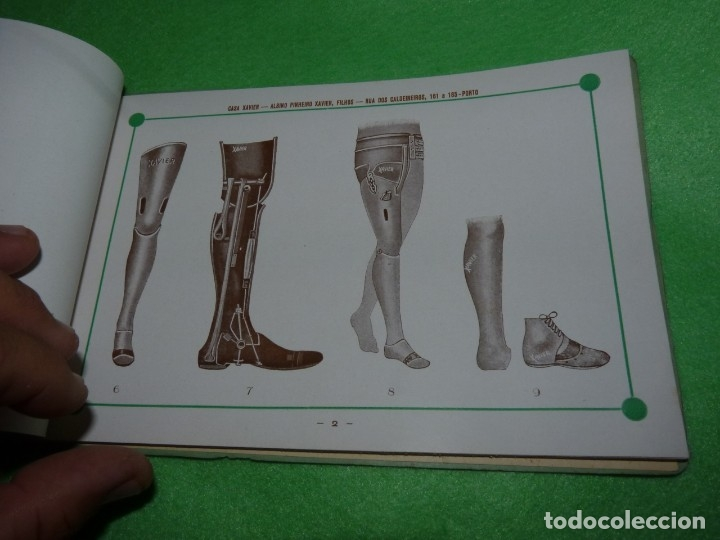 Libros antiguos: Raro catálogo muestrario ortopedia protesis principios siglo XX Casa Xavier Portugal gran estado - Foto 4 - 176302258