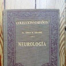 Libros antiguos: NEUROLOGÍA MEDICINA DE KNUD H. KRABBE 1929 SISTEMA NERVIOSO. Lote 176665810