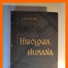 Libros antiguos: TRATADO DIDACTICO FISIOLOGIA HUMANA. TOMO 2º: FISIOLOGIA DE LOS ORGANOS DE LA VIDA ANIMAL - LUCIANI. Lote 176741044
