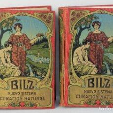 Libros antiguos: NUEVO SISTEMA DE CURACIÓN NATURAL-F.E.BILZ-2 TOMOS- HACIA 1900. Lote 177416769