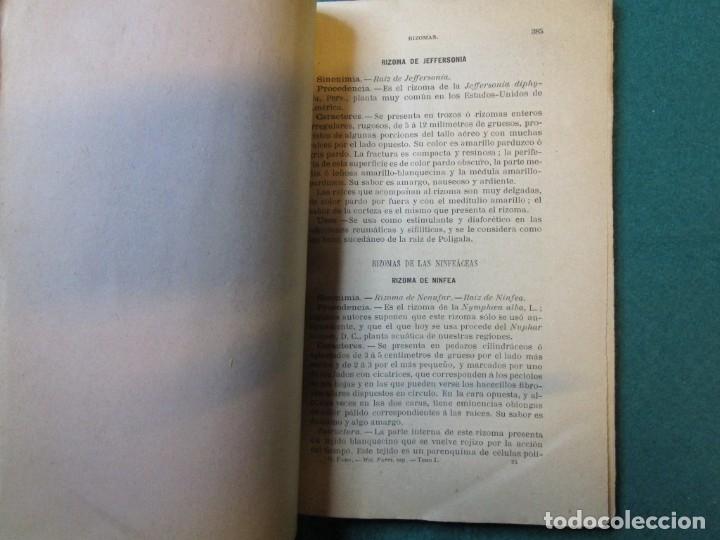 Libros antiguos: FARMACIA TRATADO MATERIA FARMACEUTICA VEGETAL - JUAN GOMEZ PAMO - EDI MOYA 1892 ILUSTRADO + INFO - Foto 2 - 177747268