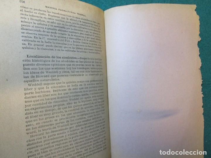 Libros antiguos: FARMACIA TRATADO MATERIA FARMACEUTICA VEGETAL - JUAN GOMEZ PAMO - EDI MOYA 1892 ILUSTRADO + INFO - Foto 4 - 177747268