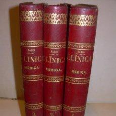 Libros antiguos: CLINICA MEDICA...3 TOMOS...AÑO 1872...OBRA COMPLETA..BUEN ESTADO DE CONSERVACION.. Lote 178287475