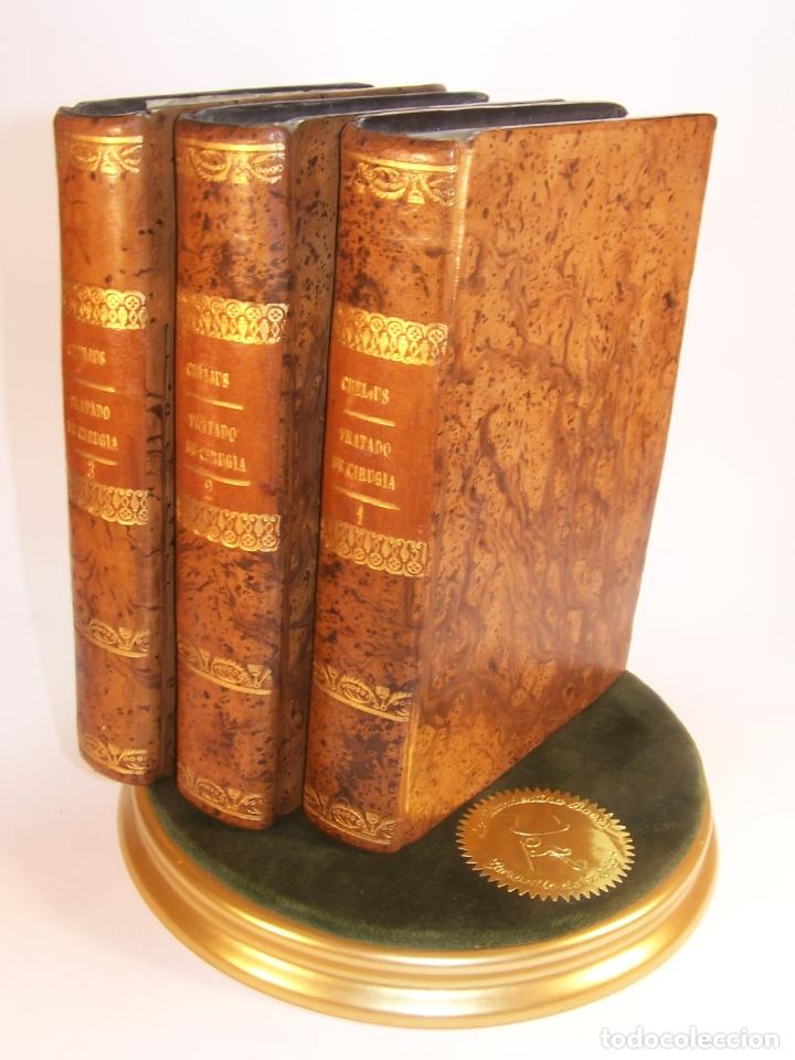 TRATADO COMPLETO DE CIRUJÍA. M. J. CHELIUS. 3 TOMOS. LIBRERÍA SRES. VIUDA DE CALLEJA E HIJOS. 1843. (Libros Antiguos, Raros y Curiosos - Ciencias, Manuales y Oficios - Medicina, Farmacia y Salud)